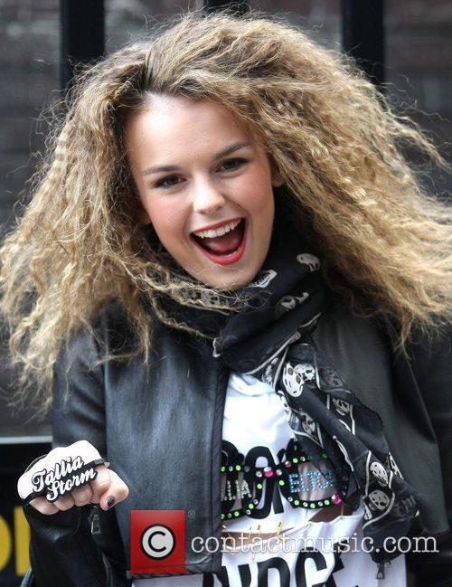 Tallia Storm leaves the ITV studios after appearing...