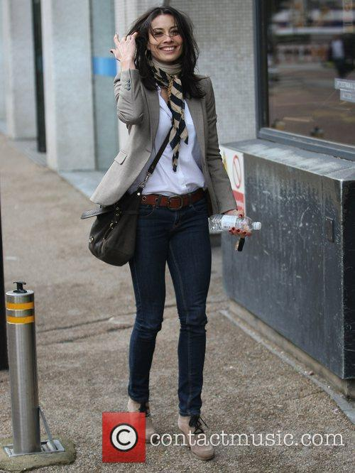 Melanie Sykes Celebrities outside the ITV studios London,...