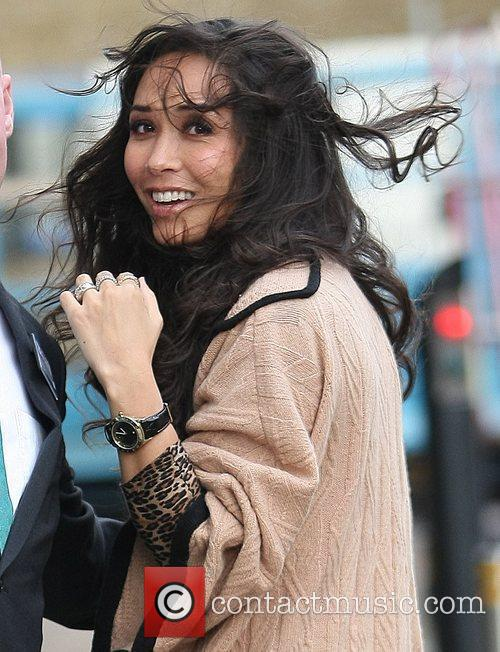 Myleene Klass  Celebrities outside the ITV studios...