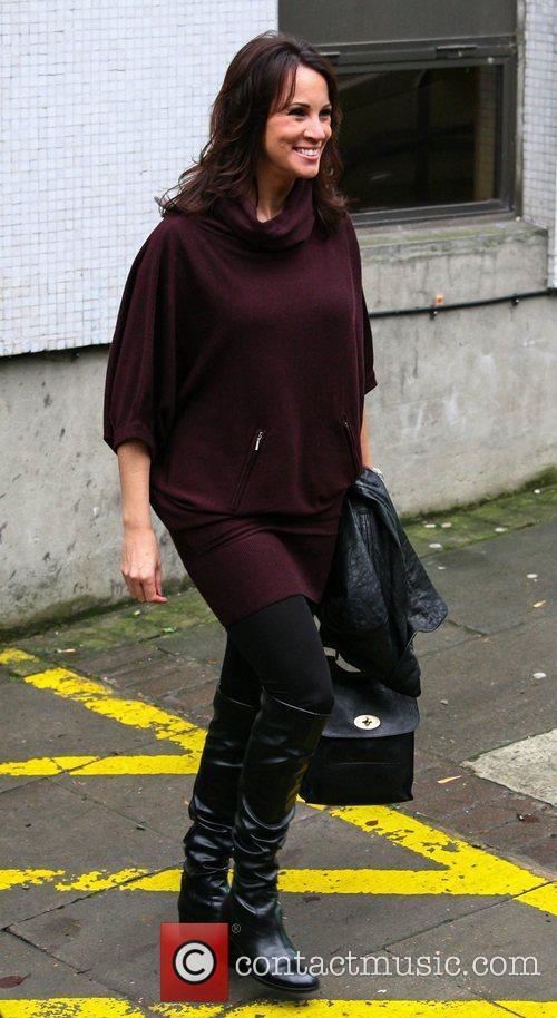 Andrea McClean outside the ITV studios London, England