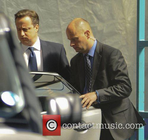 Prime Minister David Cameron at the ITV studios...
