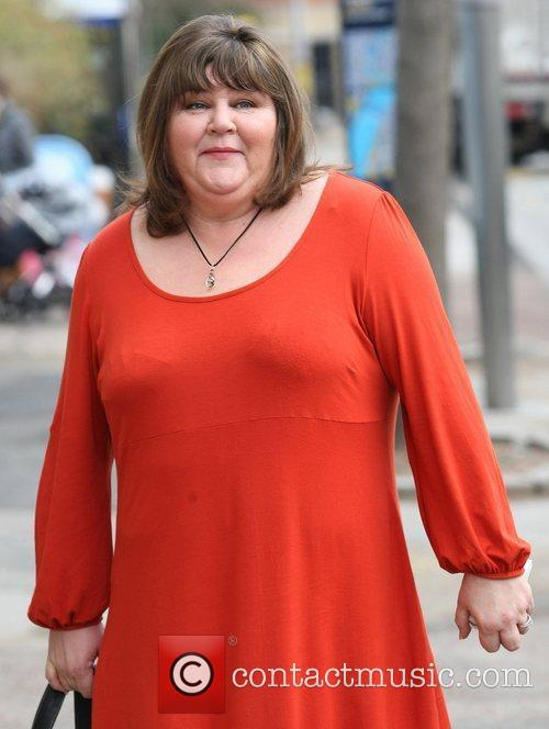 Cheryl Fergison outside the ITV studios London, England