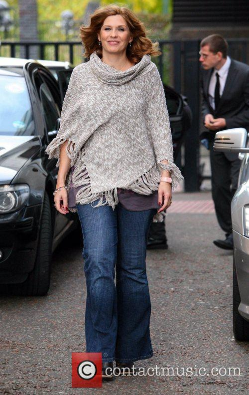 Samantha Giles leaves the ITV studios London, England