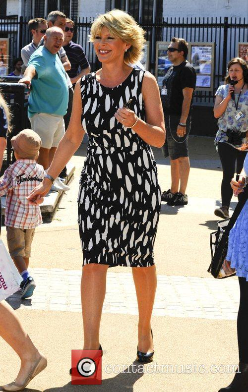 Ruth Langsford outside the ITV studios London, England