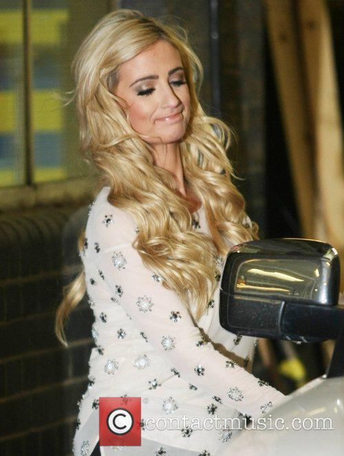 Chantelle Houghton leaving the ITV studios London, England