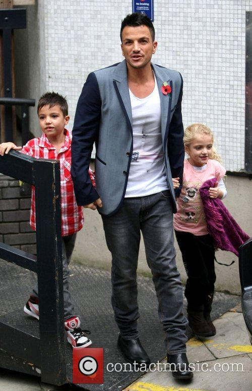 Peter Andre with his children Junior Andre and...