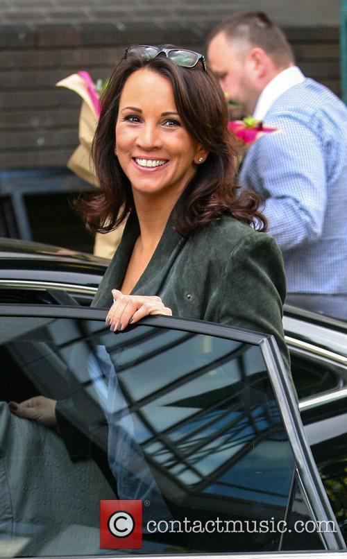 Andrea McClean outside the ITV studios London, England