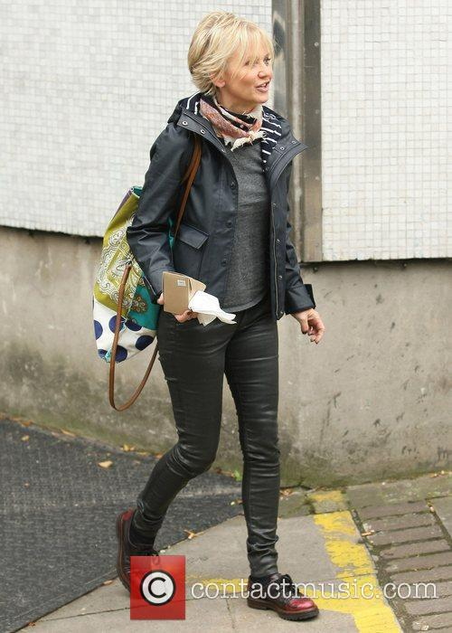 Lisa Maxwell outside the ITV studios London, England