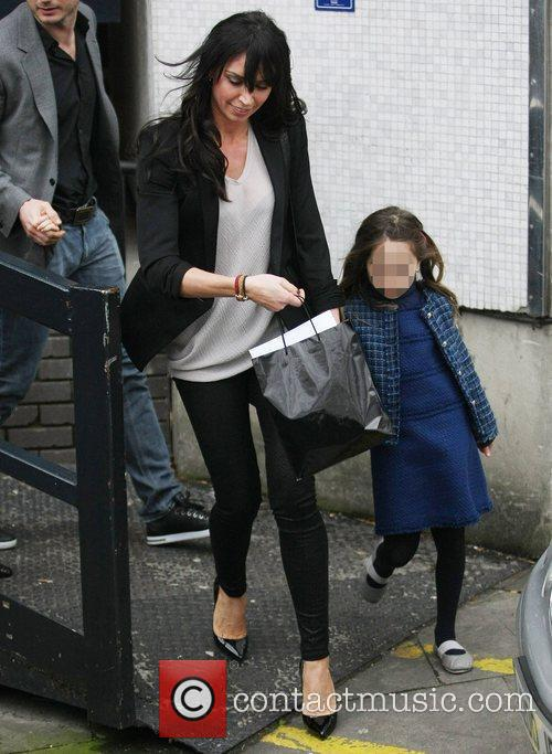 Christine Bleakley and Luna Lampard leaving the ITV...