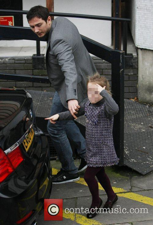 Isla Lampard and Frank Lampard leaving the ITV...
