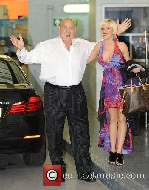 Dennis Hof and Cami Parker outside the ITV...