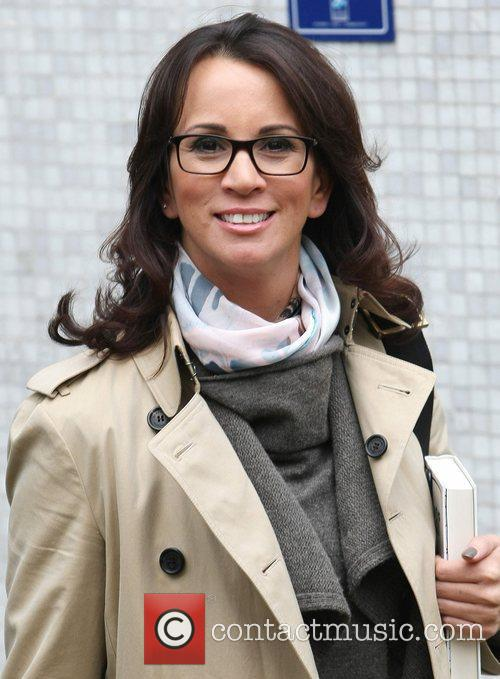 Andrea McLean leaves the ITV studios London, England