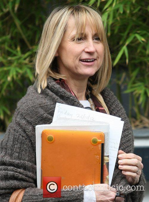 Carol McGiffin leaves the ITV studios London, England