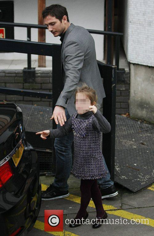 Frank Lampard with his daughter Isla leaving the...