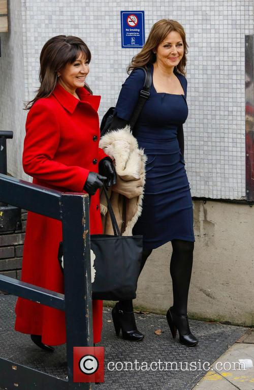 Jane McDonald and Carol Voderman leaving the ITV...