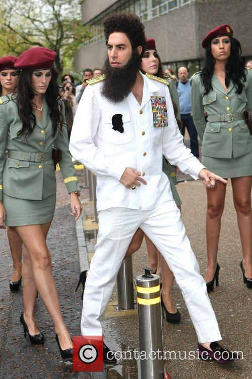 sacha baron cohen as the dictator arriving 5838497