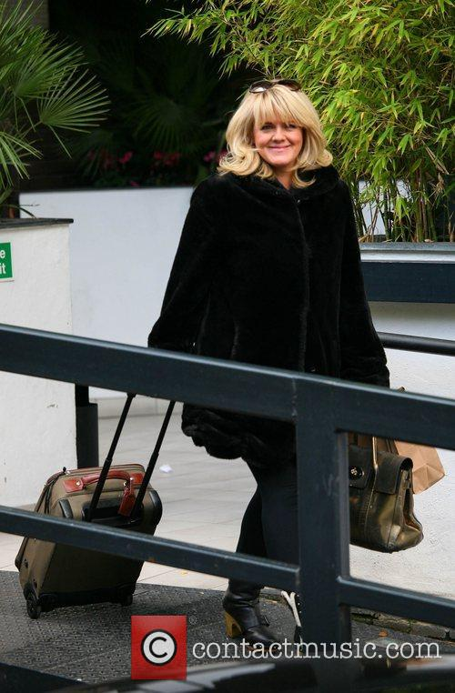 Sally Lindsay outside the ITV studios London, England