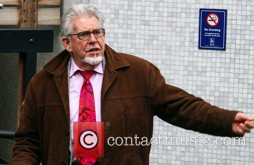 Rolf Harris outside the ITV studios London, England