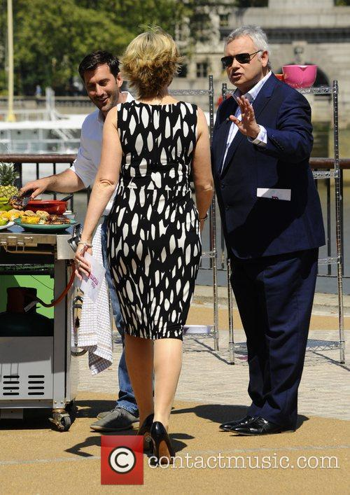 Eamonn Holmes and Ruth Langsford filming for 'This...