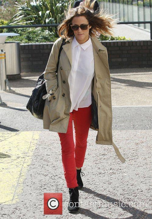 Caroline Flack at the ITV studios London, England
