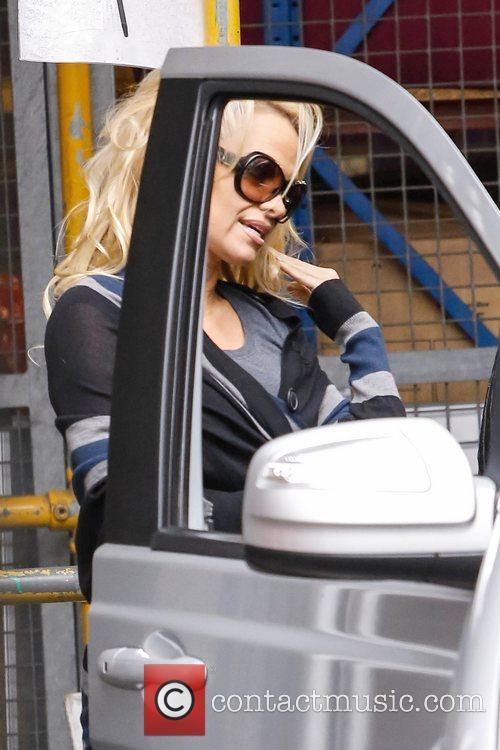 Pamela Anderson Celebrities at the ITV studios London,...