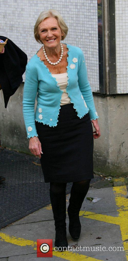 Mary Berry outside the ITV studios London, England