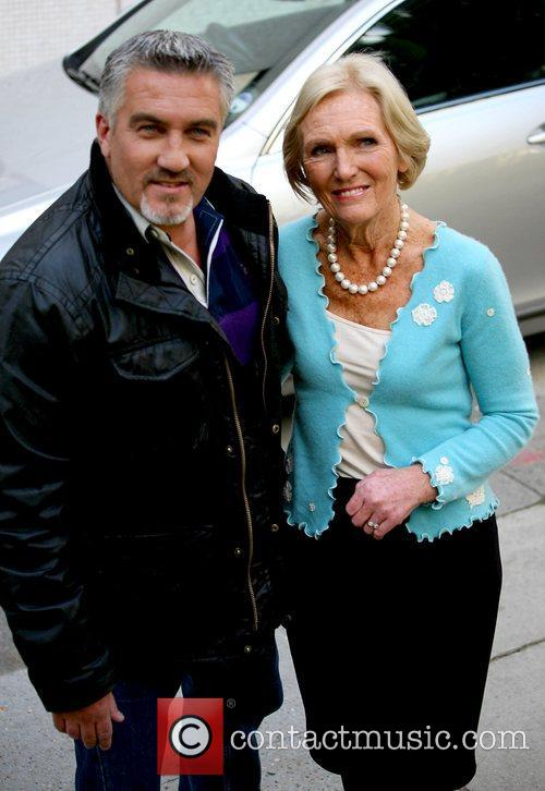 Paul Hollywood and Mary Berry outside the ITV...