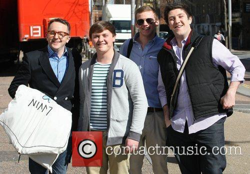 Members of Only Boys Aloud at the ITV...