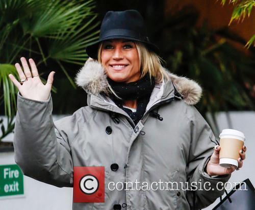 Denise van Outen Celebrities at the ITV studios...
