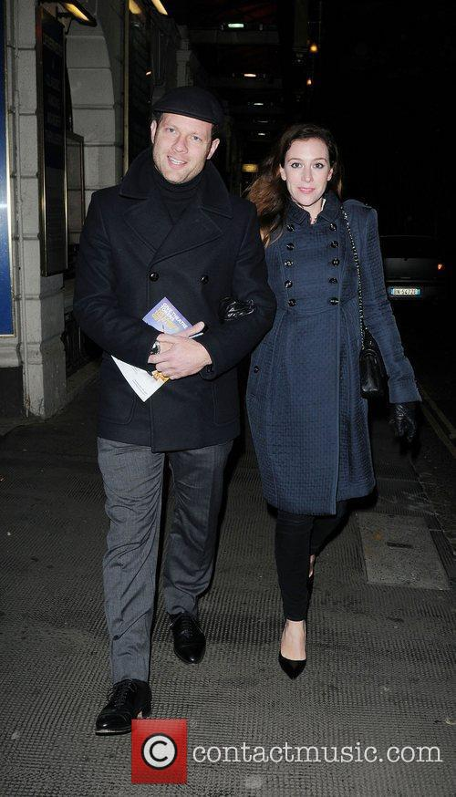 Dermot O'Leary and Dee Koppang arriving at Ivy...