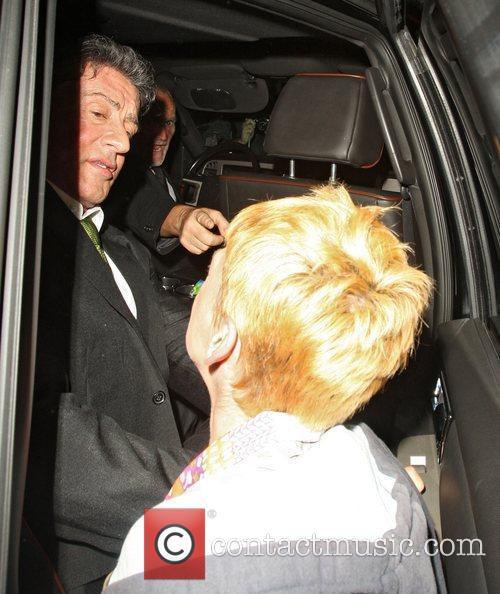 Sylvester Stallone leaves the Ivy restaurant. However, The...