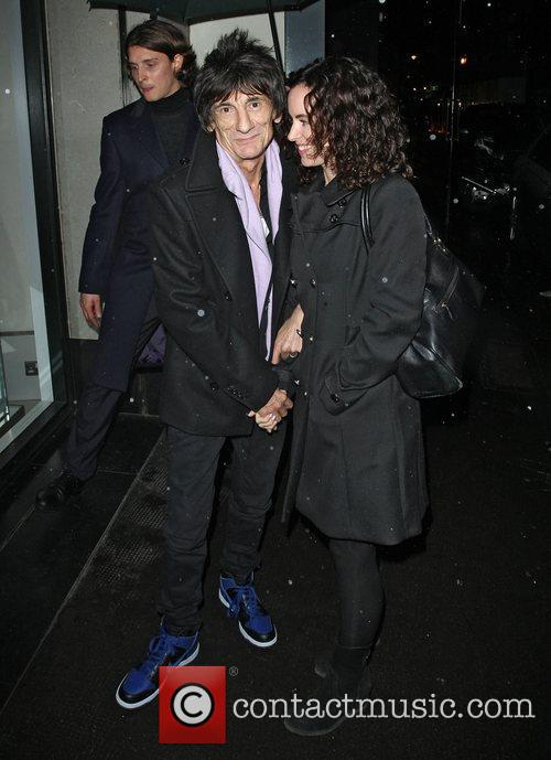 Ronnie Wood, Sally Humphreys and Ivy Club 6