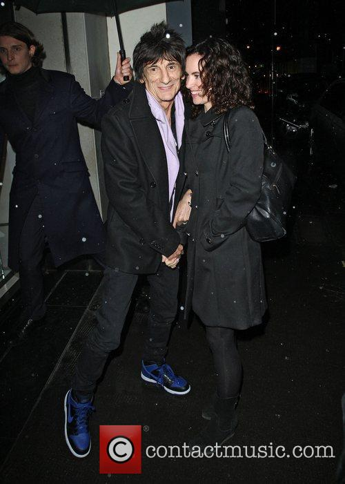 Ronnie Wood, Sally Humphreys and Ivy Club 3