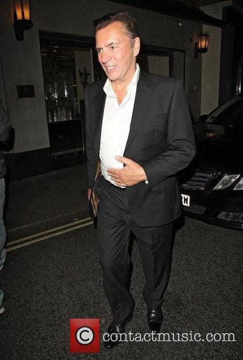 Duncan Bannatyne leaving the Ivy club London, England