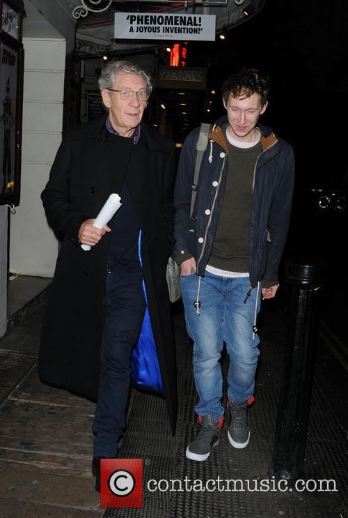 Sir Ian McKellen arrives at the Ivy Club