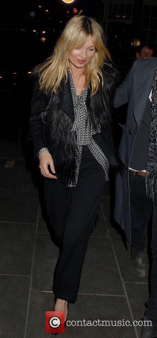 Kate Moss,  leaving J.Sheekey Seafood Restaurant London,...