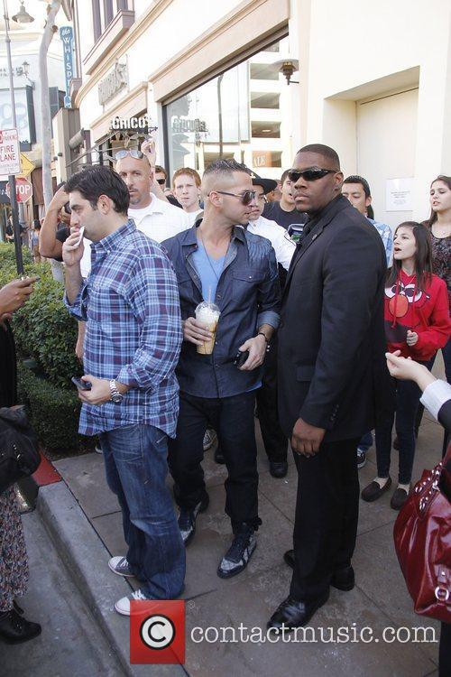 Mike 'The Situation' Sorrentino of Jersey Shore films...