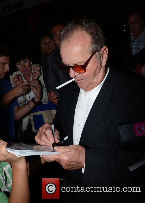 Jack Nicholson signing autographs