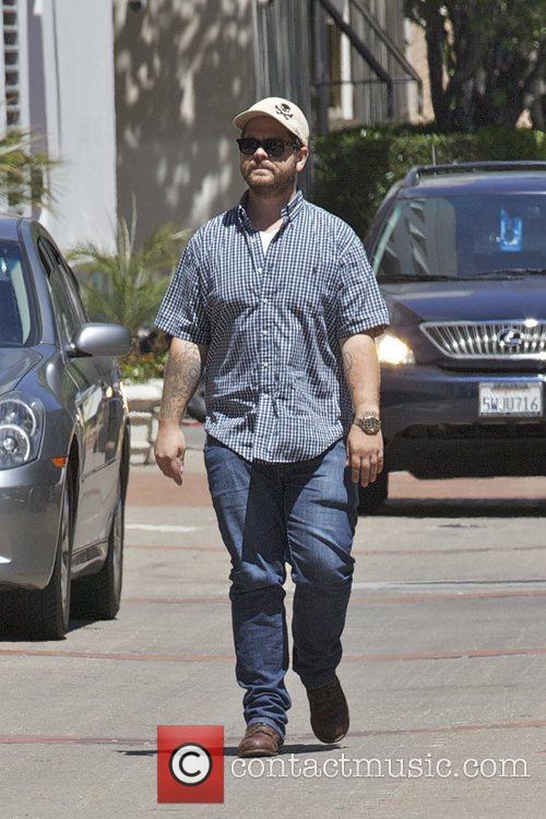 Jack Osbourne running errands in Beverly Hills Los...