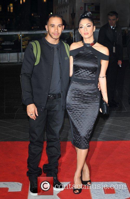 Lewis Hamilton, Nicole Scherzinger and Odeon Leicester Square 8