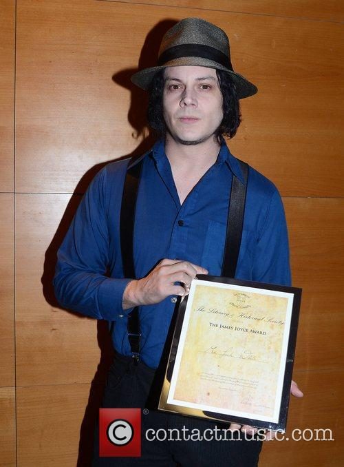 Jack White is presented with the James Joyce...
