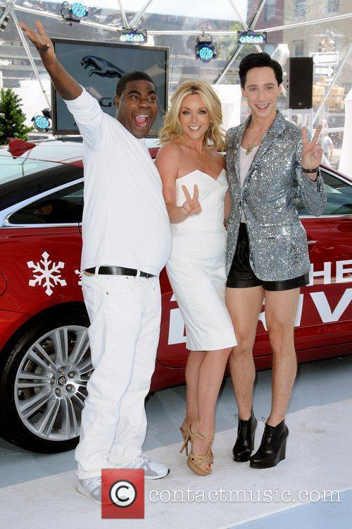 Tracy Morgan, Jane Krakowski and Johnny Weir 1