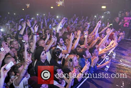Atmosphere X Factor winner James Arthur performing at...