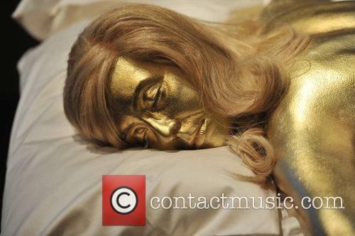 Jill Masterson's golden body from 'Goldfinger', 1964 Designing...