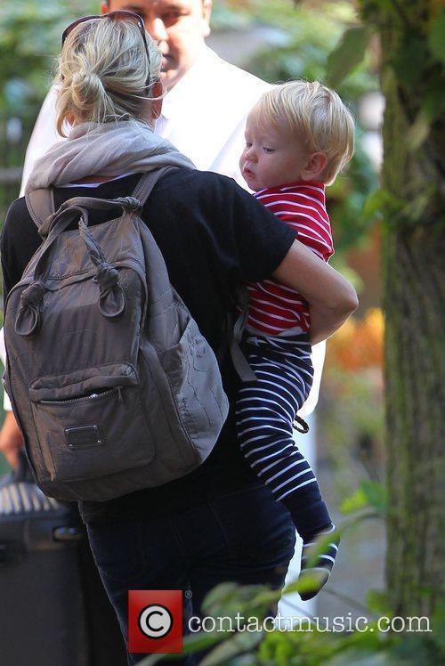 James Corden's son Max James Corden arrives home...