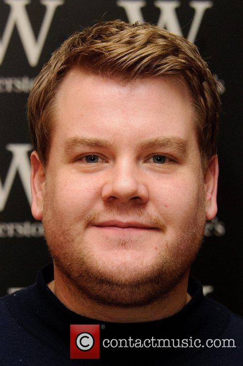 Funnyman James Corden signs copies of his autobiography...