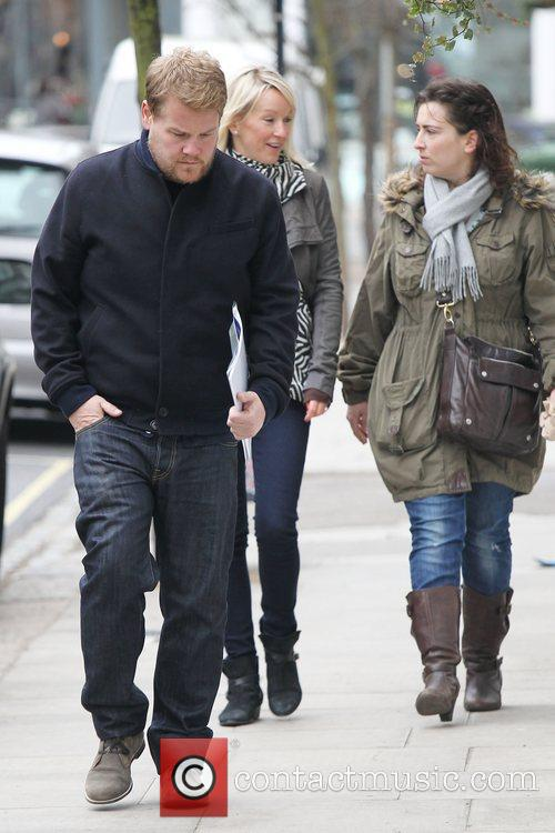 Funnyman James Corden seen walking in Primrose Hill...