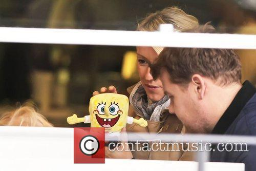Newlyweds James Cordon, Julia Carey, Max, North London. The, At, Corden and Spongebob Squarepants 28