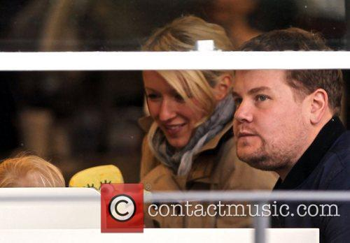 Newlyweds James Cordon, Julia Carey, Max, North London. The, At, Corden and Spongebob Squarepants 11