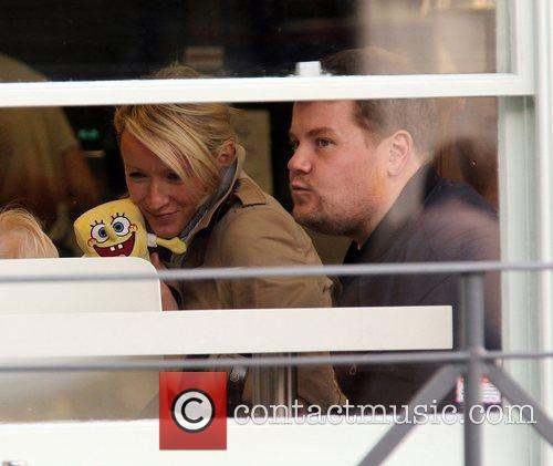 Newlyweds James Cordon, Julia Carey, Max, North London. The, At, Corden and Spongebob Squarepants 51